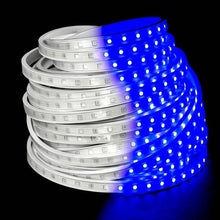 Load image into Gallery viewer, Environmental Lights Blue 5050 LED Super Flat Rope, 60/m, with White Finish, Sample Kit from OnSetLighting.com