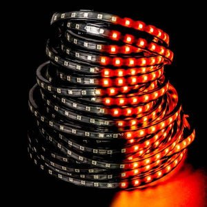 Environmental Lights Orange 5050 LED Super Flat Rope, 60/m, with Black Finish, Sample Kit from OnSetLighting.com