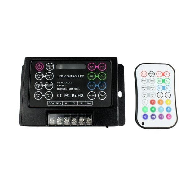 Environmental Lights Sound-to-Light LED Controller for RGB LED Strips - 5, 12 or 24 VDC from OnSetLighting.com