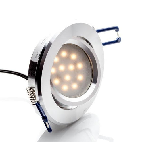 Environmental Lights LED Swivel Puck Light, Silver Finish, 3000K from OnSetLighting.com