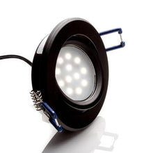 Load image into Gallery viewer, Environmental Lights LED Swivel Puck Light, Black Finish, 5600K from OnSetLighting.com