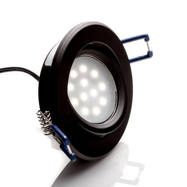 Environmental Lights LED Swivel Puck Light, Black Finish, 5600K from OnSetLighting.com