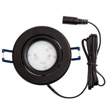 Load image into Gallery viewer, Environmental Lights LED Swivel Puck Light, Black Finish, 6500K from OnSetLighting.com