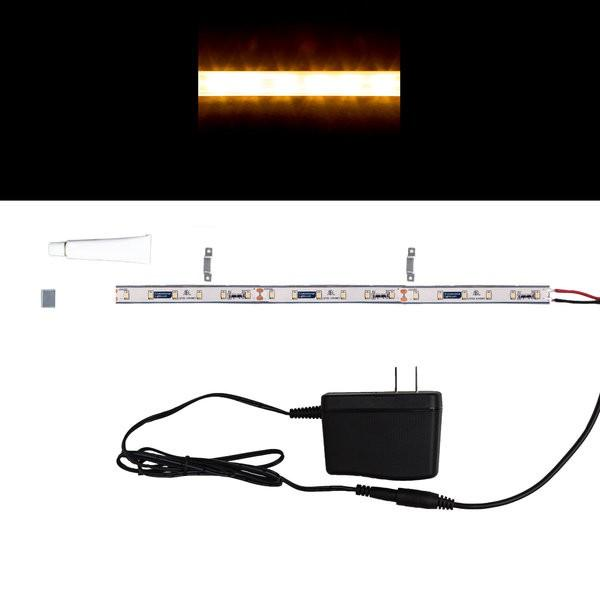 Environmental Lights MaxRun Waterproof Soft White 2835 Single Row CurrentControl LED Strip Light, 60/m, 10mm wide, Sample Kit from OnSetLighting.com