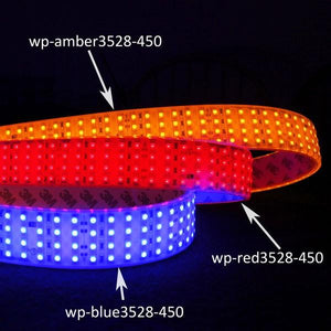 Environmental Lights Waterproof Blue 3528 Quad Row LED Strip Light, 450/m, 28mm wide, by the 3.2m Reel from OnSetLighting.com