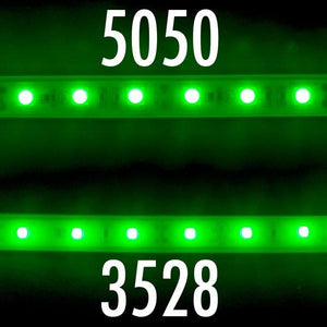 Environmental Lights Waterproof Green 3528 LED Strip Light, 60/m, 8mm wide, by the 5m Reel from OnSetLighting.com