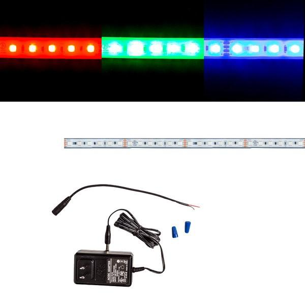 Environmental Lights Waterproof MaxRun RGB 4040 LED Strip Light - 84/m - Sample Kit from OnSetLighting.com