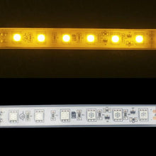 Load image into Gallery viewer, Environmental Lights Waterproof Amber 5050 Single Row CurrentControl LED Strip Light, 60/m, 12mm wide, by the 6m Reel from OnSetLighting.com