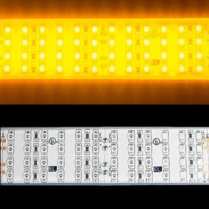 Environmental Lights Waterproof Amber 3528 Quad Row LED Strip Light, 450/m, 28mm wide, by the 3.2m Reel from OnSetLighting.com