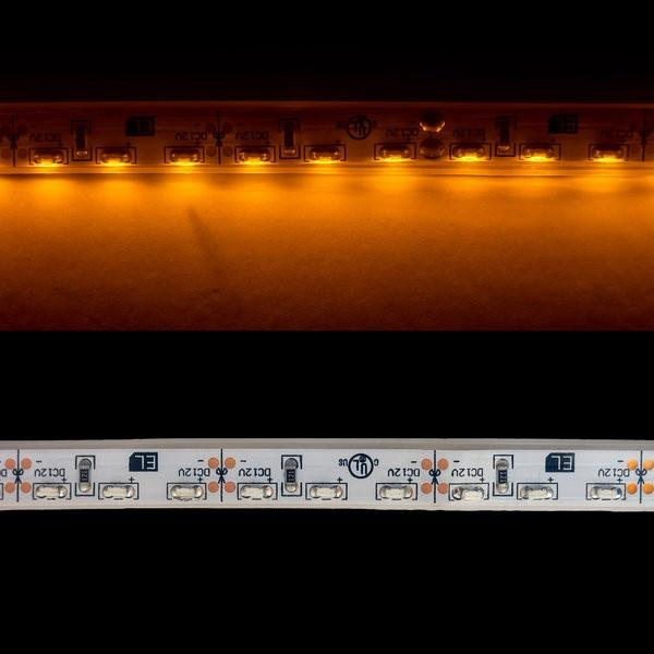 Environmental Lights Waterproof Amber 3014 Side View LED Strip Light, 96/m, 8mm wide, by the 5m Reel from OnSetLighting.com