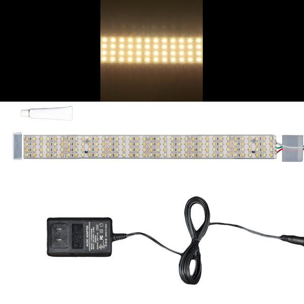 Environmental Lights Waterproof White Adjustable 3528 Quad Row LED Strip Light, 450/m, 28mm wide, Sample Kit from OnSetLighting.com