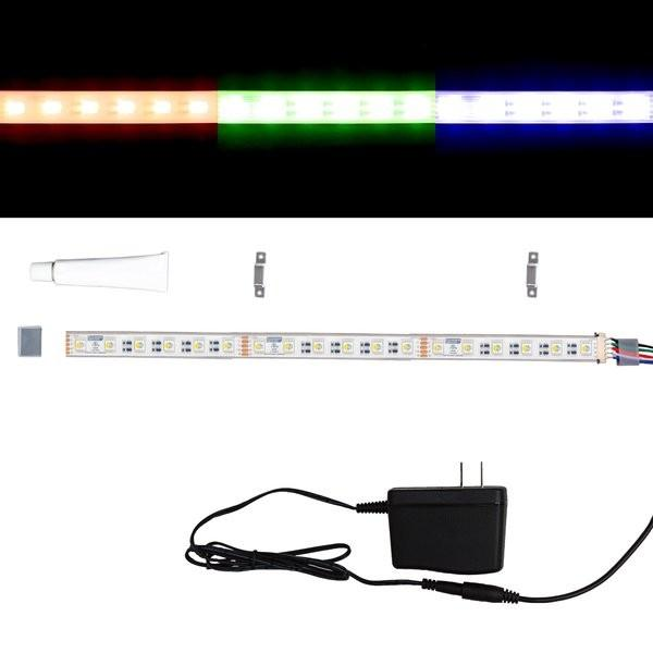 Environmental Lights Waterproof MaxRun RGB + 3,000K 4-in-1 5050 LED Strip Light - 60/m - Sample Kit from OnSetLighting.com