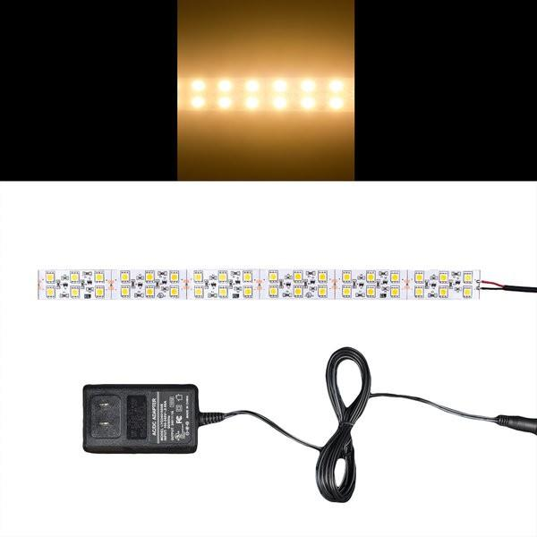 Environmental Lights Warm White 5050 Double Row CurrentControl LED Strip Light, 120/m, 20mm wide, Sample Kit from OnSetLighting.com
