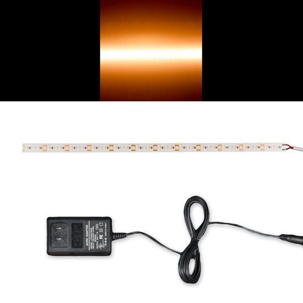 Environmental Lights Warm White 2216 TruColor LED Strip Light, 240/m, 10mm wide, Sample Kit from OnSetLighting.com
