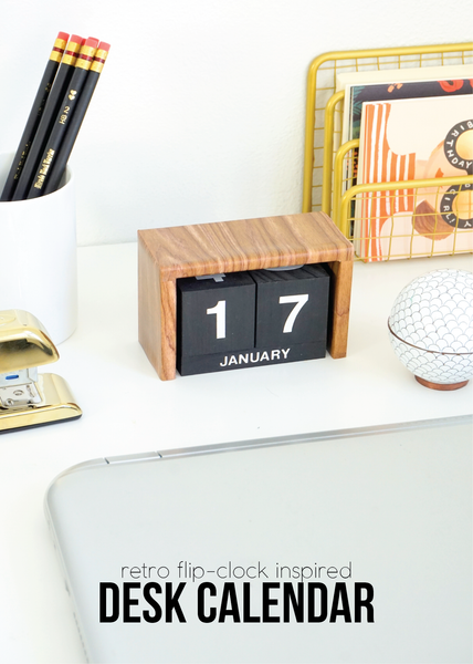 It's a new year which for many of us means it's time for a new calendar! This DIY desktop calendar takes its styling from the flip-clock beauties of yesteryear, adding a retro touch to the modern workspace.
