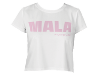 Mala Forever Crop Top - White and Pink
