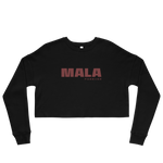 Mala Forever Crop Sweatshirt - Black + Burgundy