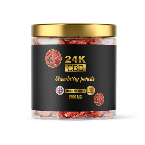 24K CBD PREMIUM GUMMIES STRAWBERRY PENCILS - 1500MG
