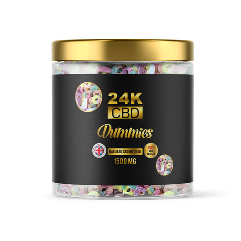 24K CBD VEGAN PREMIUM GUMMIES FIZZY DUMMIES - 1500MG