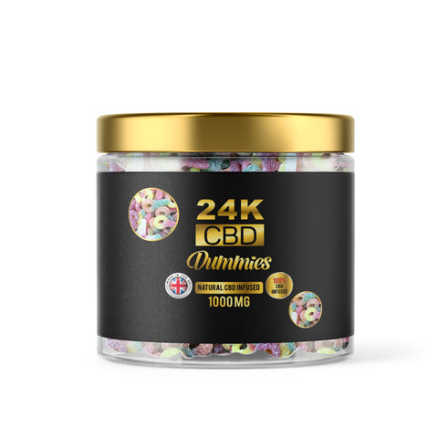 24K CBD VEGAN PREMIUM GUMMIES FIZZY DUMMIES - 1000MG