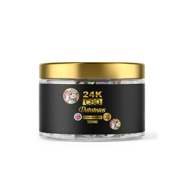 24K CBD PREMIUM GUMMIES FIZZY DUMMIES - 500MG