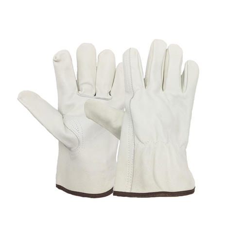 Grade A Cow Non-Slip Leather Driving Gloves PRICED PER DOZEN std color bands