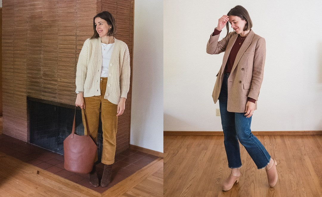 After a summer and early fall of experimenting with different ways to document what I'm wearing, I'm excited to go back to what I know and love – creating weekly outfit round-ups! I like having a week's worth of outfits all in one place