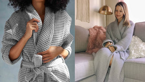 Brooklinen just released an ultra-cozy waffle robe—is it worth $100?