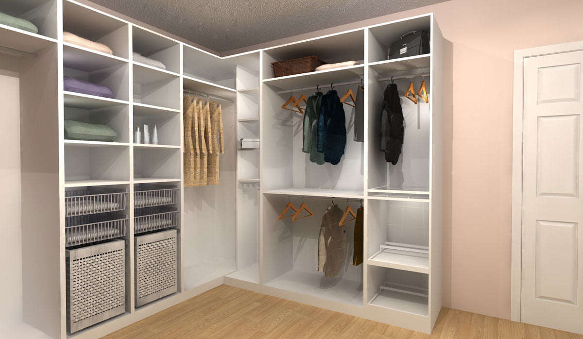 Three PAX Walk-In Closet Designs Under $4,000