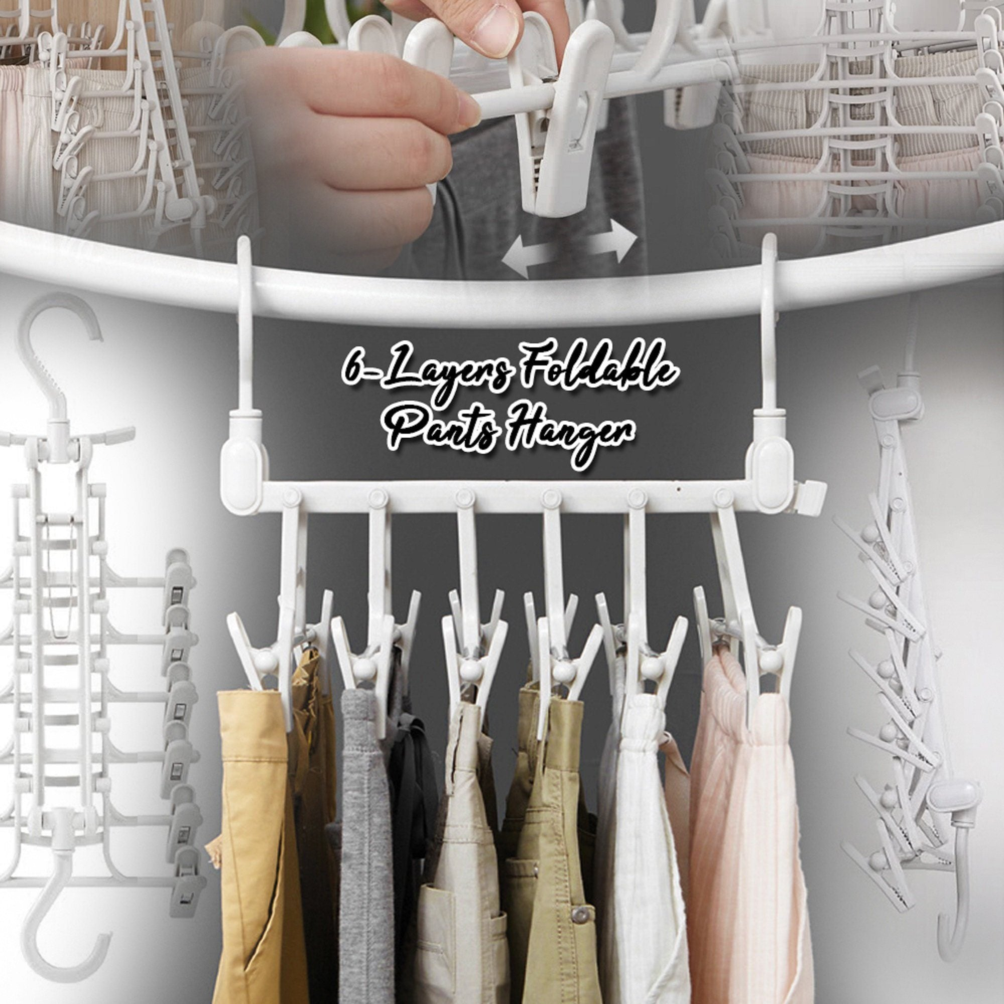 6-Layers Foldable Pants Hanger