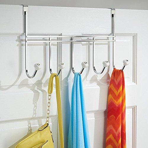Ecorelation Over Door Storage Rack – Organizer Hooks for Coats, Hats, Robes, Clothes or Towels