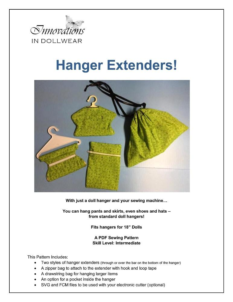 "Hanger Extenders 18"" Doll Accessory Pattern"