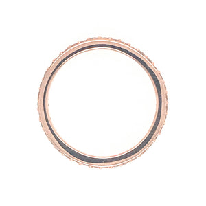14k Pink Gold Bead Set Deiamond Wedding Band