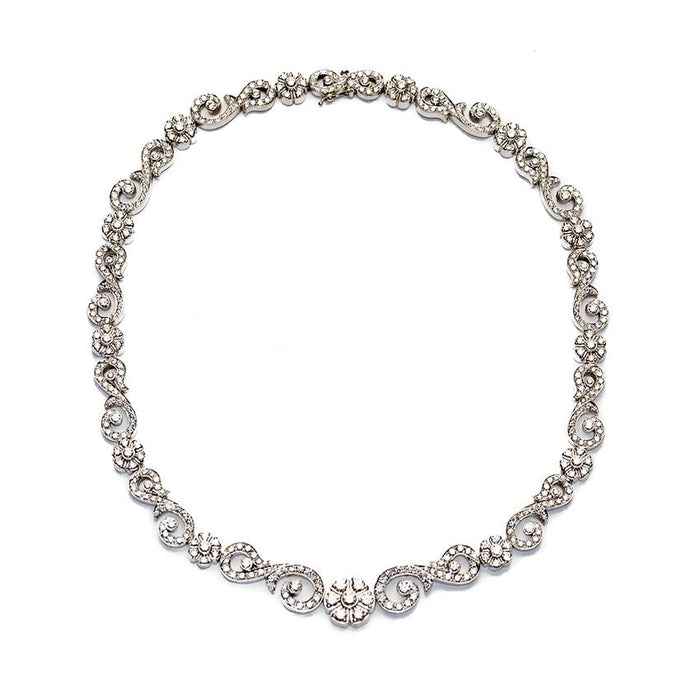 Estate Certified Penny Preville Cocktail Diamond Necklace