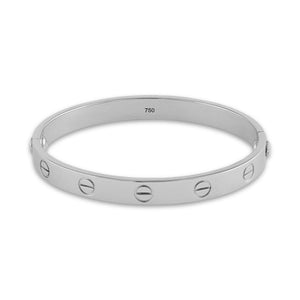 Cartier 18K White Gold Love Bracelet Size: 17 cm