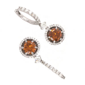 GIA Certified Colored Diamond Drop Earrings