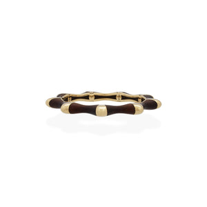 Estate David Webb 18K Gold Ebony Women's Black Bangle Bracelet (2 Pieces)