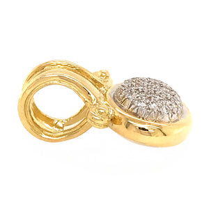 18k Yellow Gold Diamond Pendant Enhancer