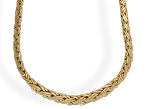 Tiffany & Co. 18K Yellow Gold Vannerie Basket Weave Necklace Length: 16""