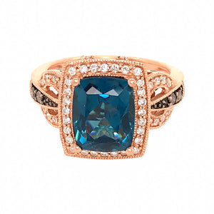 LeVian 14k Rose Gold Berrylicious Blues Ring