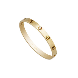 Cartier 18K Yellow Gold Love Bracelet Size: 18cm
