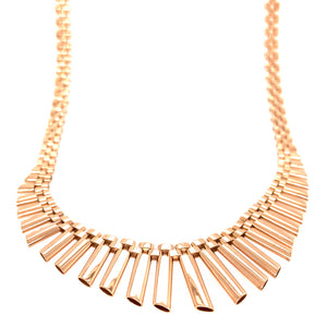 18K Yellow Gold Retro Dangle Necklace
