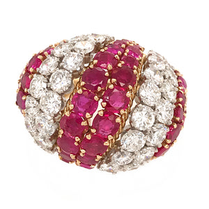 David Webb Ruby and Diamond Vintage Ring