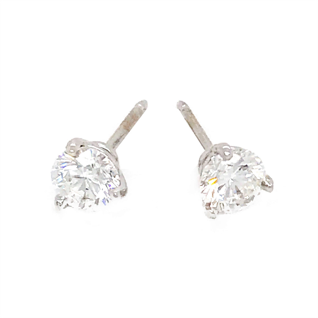Classic Diamond Stud Earrings