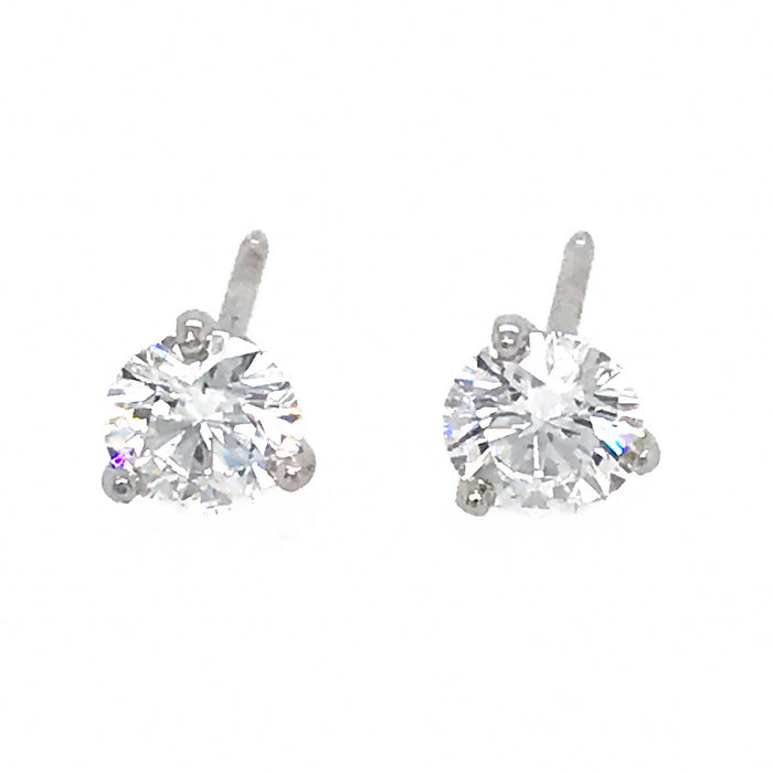 GIA Certified Classic 1.15 carat Diamond Stud Earrings