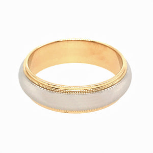 Tiffany and Co. Platinum and 18k Yellow Gold 6mm Wedding Band
