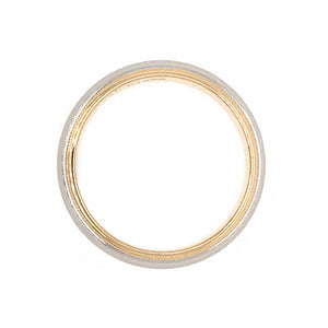 Tiffany and Co. Platiinum and 18k Yellow Gold 6mm Wedding Band