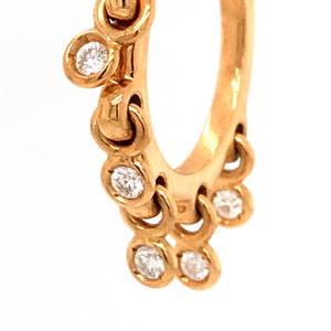 Dior 18k Yellow Gold Waterfall Diamond Hoop Earrings