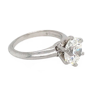 Tiffany and Co. 1.75 carat Diamond Engagement Ring with Wedding Band