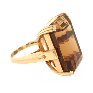Tiffany and Co. 18k Yellow Gold Vintage Citrine Ring